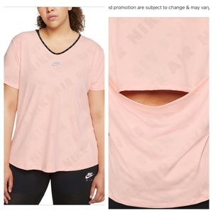 Nike Air Plus Size Workout Top. Open Back NEW 1X